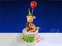 Детский торт «Милый жираф»