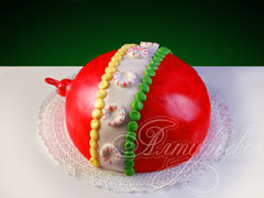 Торт на новый год «Новогодний шарик»