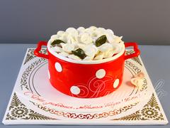 Торт кастрюля «Домашние пельмени»