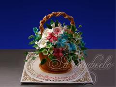 Торт «Корзина с цветами»